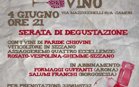 Serata di degustazione con i vini novaresi di Paride Chiovini